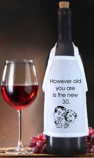 The New 30 Birthday Bottle Apron For Wine, Spirits, Craft Beer, Coffee Syrups and Cooking Oils