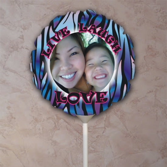 Tie Dye Zebra Stripe Photo Balloon