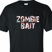 Zombie Bait Bloodied Grunge Adult T-Shirt