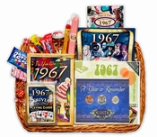 1967 or 1968 Gift Basket with Coins