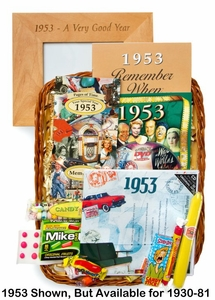 45th Birthday Gift Basket - 45th Anniversary Gift Basket
