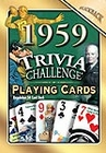 60th Birthday Cards: 1959 Trivia Playing Cards
