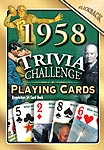 60th Birthday Cards: 1958 Trivia Playing Cards