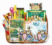 60 Gift Basket with Stamps from 1957 or 1958
