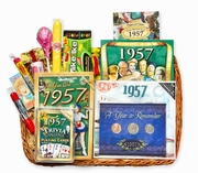 60th Gift Basket for 1957 or 1958 with Coins