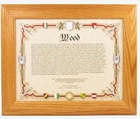 65th Birthday Gifts: Genealogy of Last Name Print