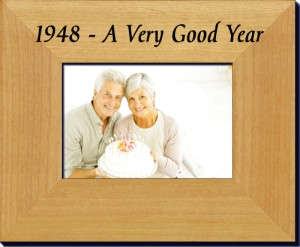 70th Anniversary Frame or 70th Birthday Picture Frame