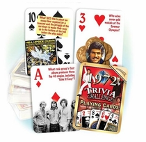70th Birthday Cards: 1949 Trivia Playing Cards