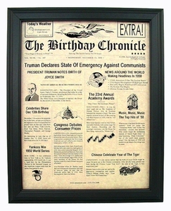 Birthday Newspaper for Any Year