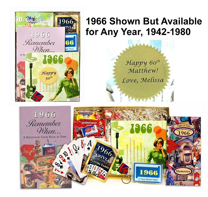 1966 Time Capsule 50th Birthday Gift For Men Or Women: Personalized Time Capsule For Any Year