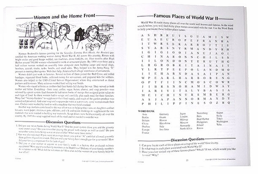 Trivia Activity Book of Puzzles about the 1940s