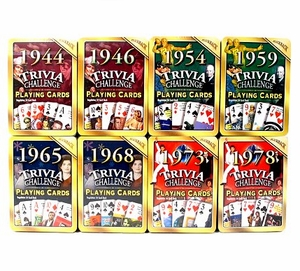 Trivia Playing Cards for Any Year from 1943-1980