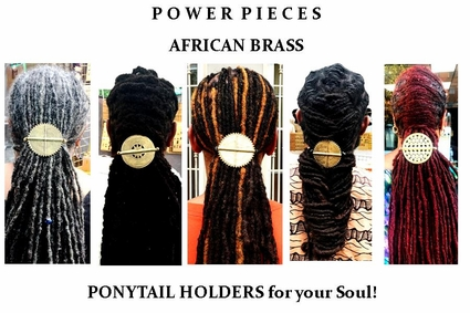 African Brass Sphere Ponytail Holders