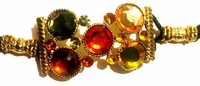 Autumn Corona Crystal Hair Jewel Ponytail Holder