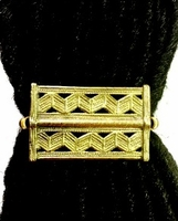 Baule Brass Plate Ponytail Holders