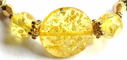 Blonde Amber Ball Facets