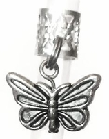 Butterfly Hair Charm Antique Silver