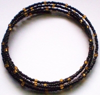 Black Gold Bead Collar
