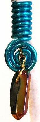 Cornish Blue Gemstone Wire Coil Hair Charm