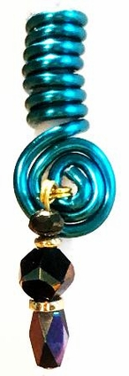 Cornish Blue Wire Coil Charm One