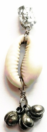 Cowrie Shell Bells Hair Charm