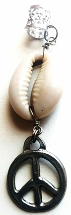 Cowrie Shell Peace Sign