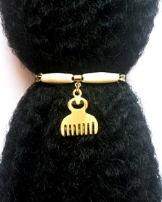 Duafe Comb Ponytail Holders