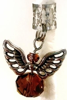 Earth Angel Brown Crystal Hair Charm