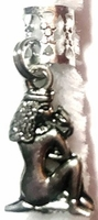 Queen Cleopatra Gold Silver Loc Charm