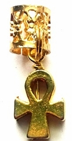 Egyptian Ankh Hair Charm Thick