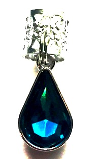 Egyptian Blue Crystal Teardrop Hair Jewel