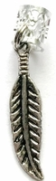 Feather Hair Charm Antique Silver