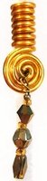 Gold Mink Wire Coil Hair Charm