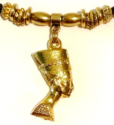 Gold Queen Nefertiti Ponytail Holder 3