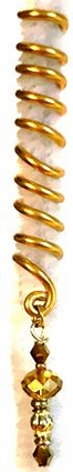 Gold Spiral Lineage Wire Hair Jewelry