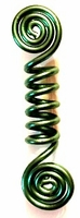 Green Double Spiral Coil