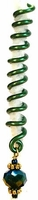 Green Spiral Lineage Wire Hair Jewelry