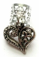 Heart Filigree Silver
