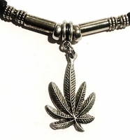Hemp Leaf Silver Loc Ponytail Men's