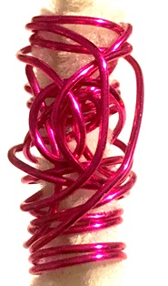 Hot Pink Wire Wrap Hair Jewelry Passion