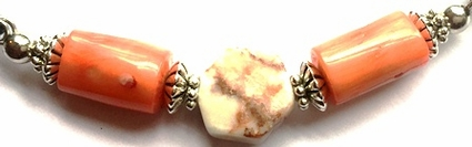 Italian Marble Coral Ponytail Holder