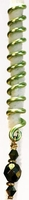 Lime Green Spiral Lineage Wire Hair Jewelry