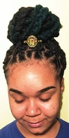 Assorted Gold Metal Ponytail Holders