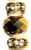 Metallic Gold Facet Crystal Bullion