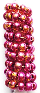 Metallic Pink Spiral Large