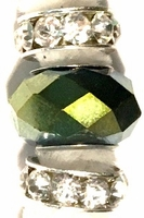 Olivine Facet Gold Crystal Bullion