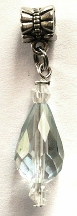 Opaque Teardrop Crystal