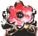 Pink Diamond Flower Enamel