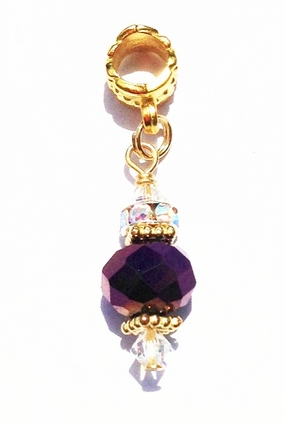 Plum Crystal Ball Hair Jewel