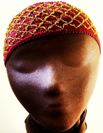 Maroon Gold Headband Free